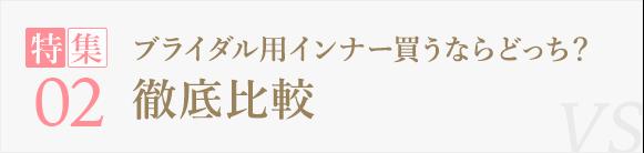 【特集2】ブライダル用インナー買うならどっち?徹底比較